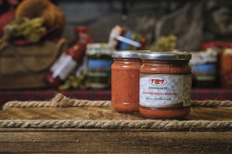 "Зеленчуков пастет доматено песто и босилек ""Том"" 205 гр. 1"