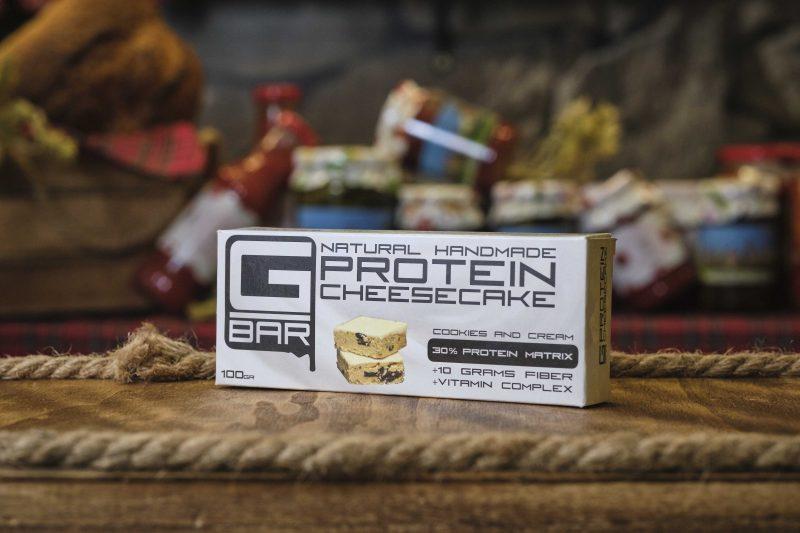 Протеинов бар с бисквитки и крем G-BAR 100 гр . 1