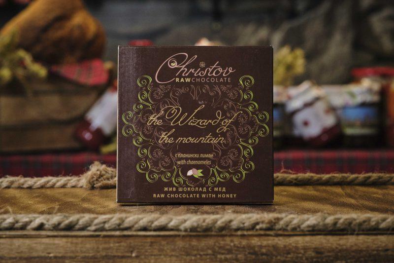 "Жив шоколад с мед и планински лимон ""Christov"" 84 гр . 1"