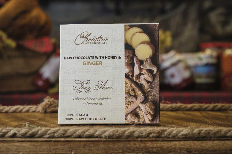 """Жив шоколад с мед и джинджифил """"Christov"""" 84 гр . 1"""