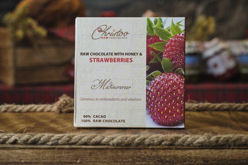 "Жив шоколад с мед и ягоди ""Christov"" 84 гр . 1"
