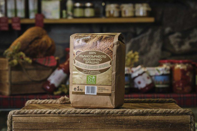 Пълнозърнесто пшенично брашно - 1 кг . 1