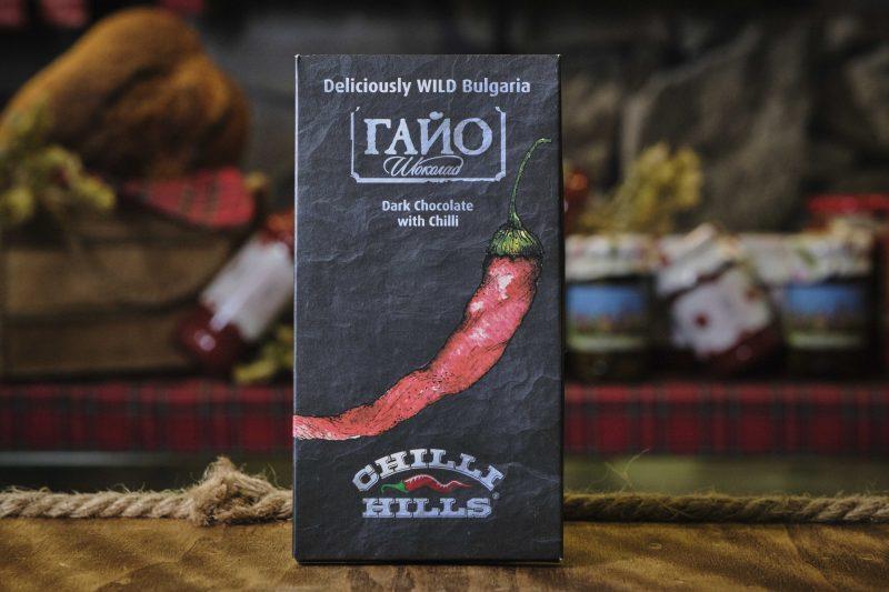 "Гайо ""Deliciously Wild Bulgaria"" Chilli Hills шоколад Venezuela 70% с чили от ""Chilli Hills"" 80 гр . 1"