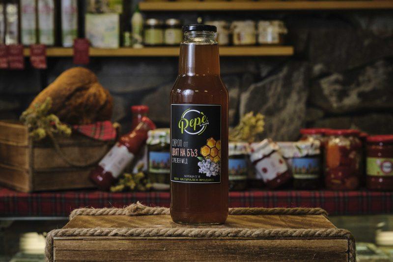 """Сироп """"Пепе"""" от цвят на бъз с пчелен мед - 750 мл . 1"""