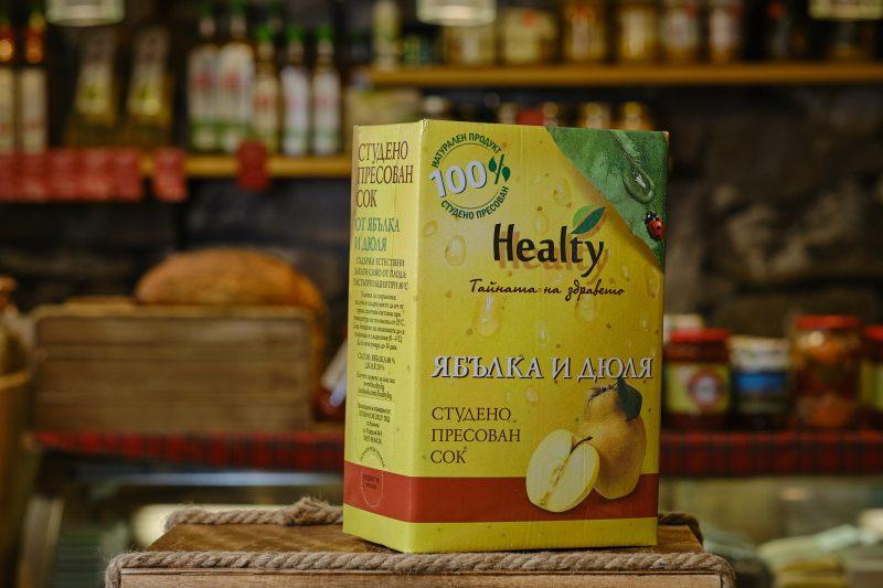 """Студено пресован сок """"Healthy"""" от ябълка и дюля 3 л. 1"""