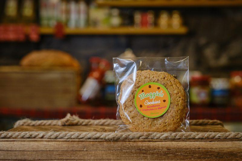 """Бисквитка с кпортокал и фурми """"Maggie's"""" 75 гр . 1"""