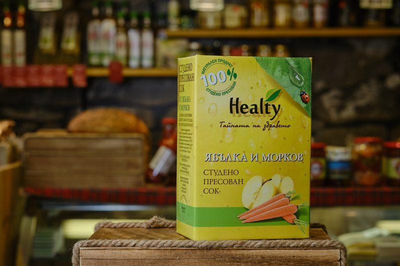"""Студено пресован сок """"Healthy"""" от ябълка и морков 3 л. 1"""