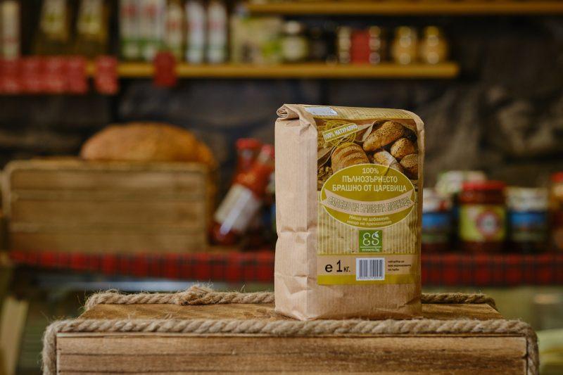 Екосем натурално пълнозърнесто царевично брашно 1 кг . 1