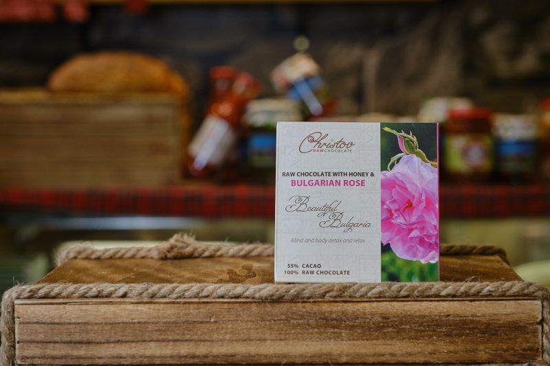 """Жив шоколад с роза """"Christov"""" 84 гр. 1"""