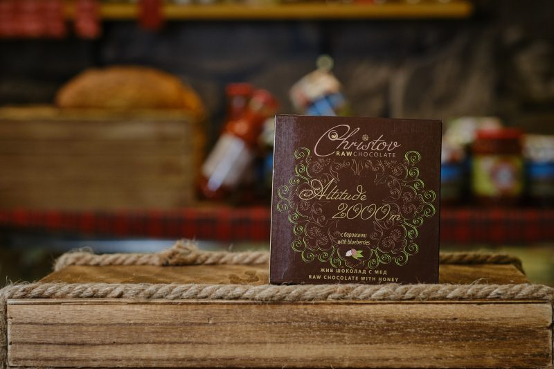 "Жив шоколад с мед и боровинки ""Christov"" 84 гр. 1"