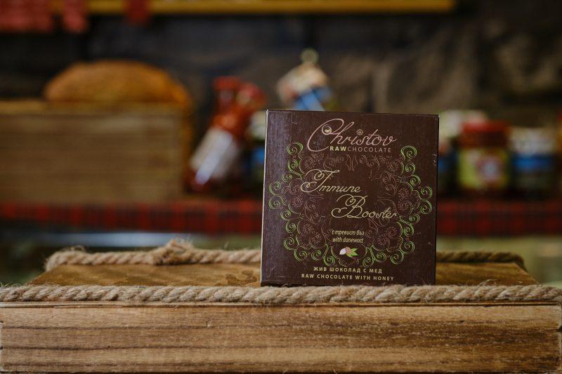 "Жив шоколад с мед и тревист бъз ""Christov"" 84 гр. 1"