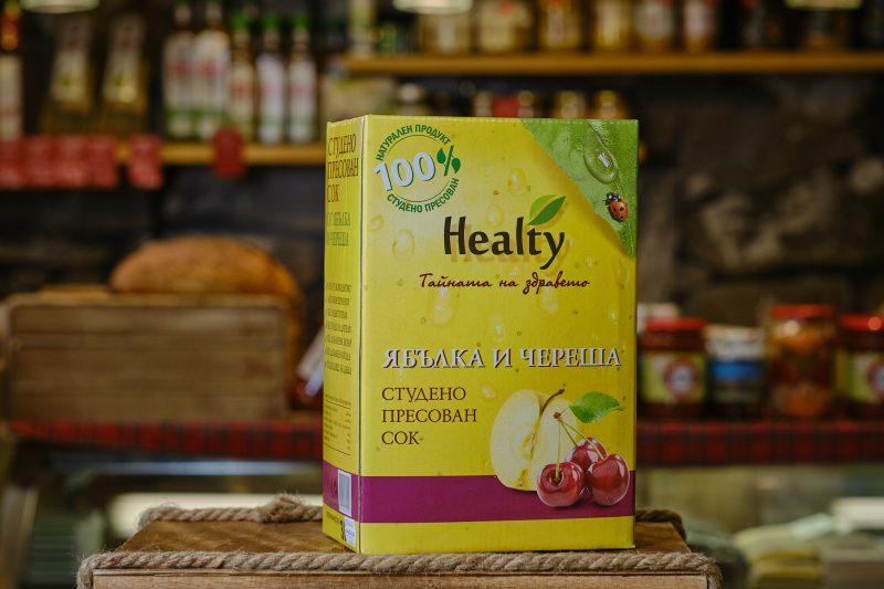 """Студено пресован сок """"Healthy"""" от ябълка и череша 3 л. 1"""