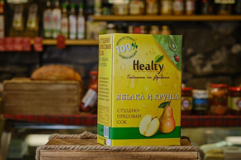 """Студено пресован сок """"Healthy"""" от ябълка и круша 3 л. 1"""