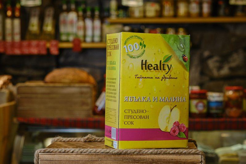 """Студено пресован сок """"Healthy"""" от ябълка и малина 3 л. 1"""