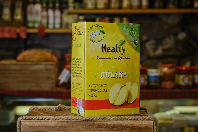 """Студено пресован сок """"Healthy"""" от ябълка 3 л. 1"""