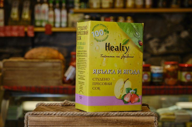 "Студено пресован сок ""Healthy"" от ябълка и ягода 3 л. 1"