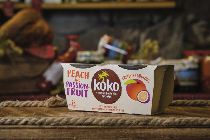 Кокосов йогурт с праскова и маракуя КОКО 2Х125 гр. 1