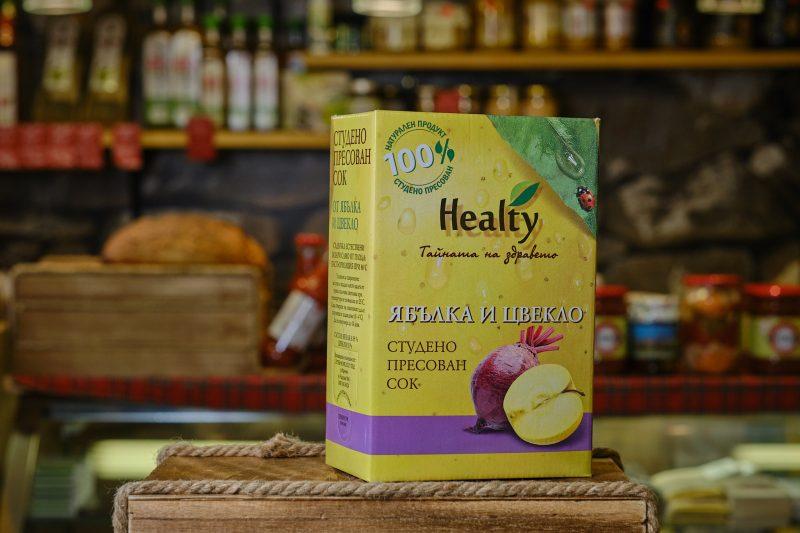 """Студено пресован сок """"Healthy"""" от ябълка и цвекло 3 л. 1"""
