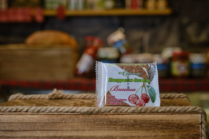 """Натурален десерт """"Сарина"""" с вишна 40 гр . 1"""