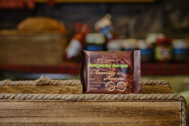 """Натурален десерт """"Сарина"""" лешник и какао 40 гр. 1"""