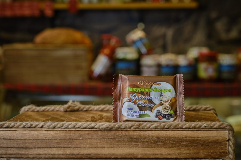 "Натурален десерт ""Сарина"" с арония и кокос 40 гр. 1"