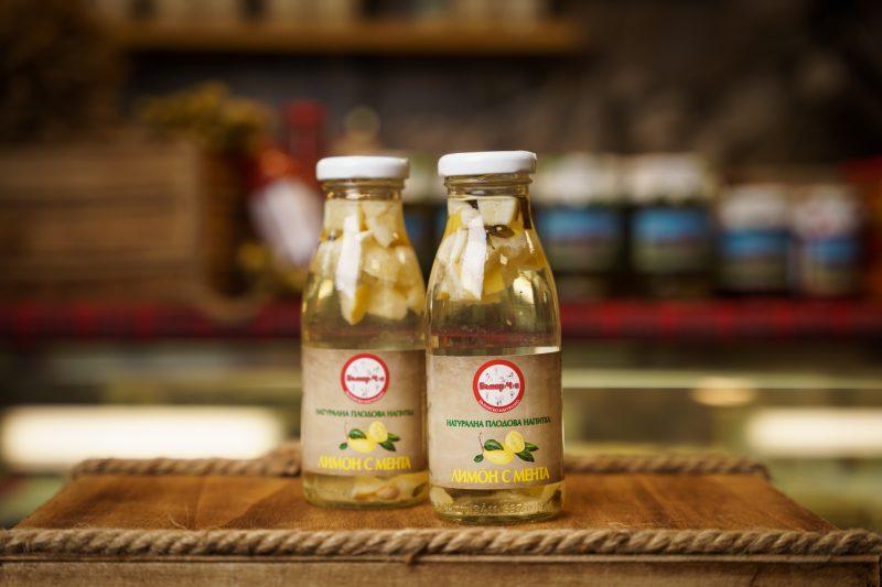 Бънар(Ч)е натурална напитка лимон с мента 250 мл. 1