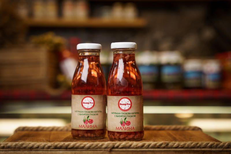 Бънар(Ч)е натурална напитка малина 250 мл. 1