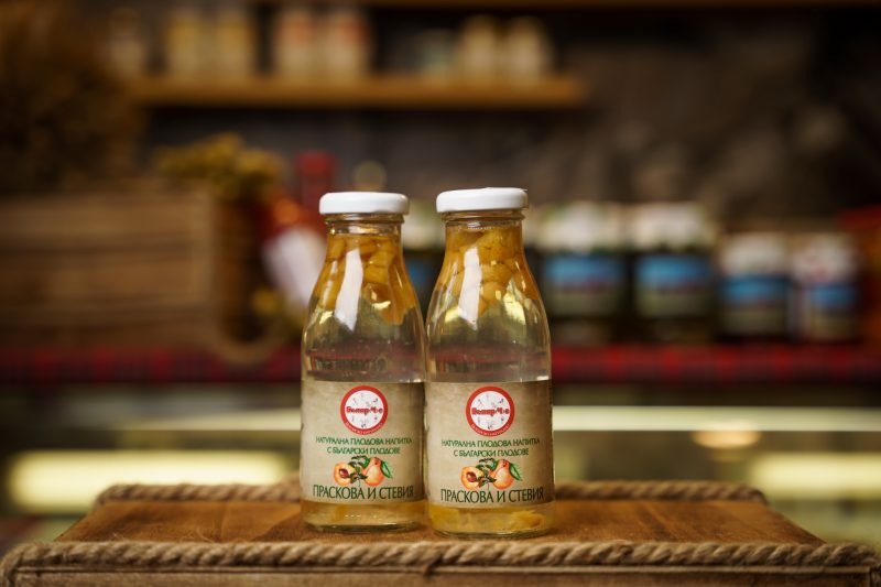 Бънар(Ч)е натурална напитка стевия и праскова 250 мл. 1