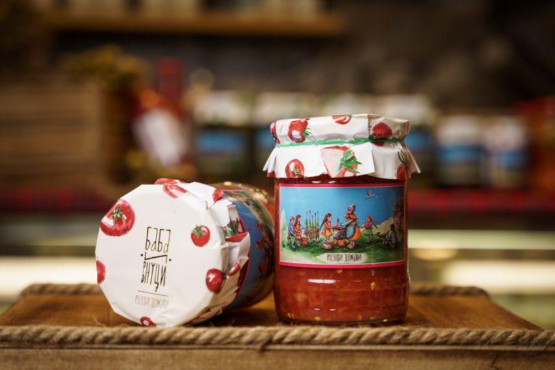 """Розов домат """"Баба и Внуци"""" 580 мл . 1"""
