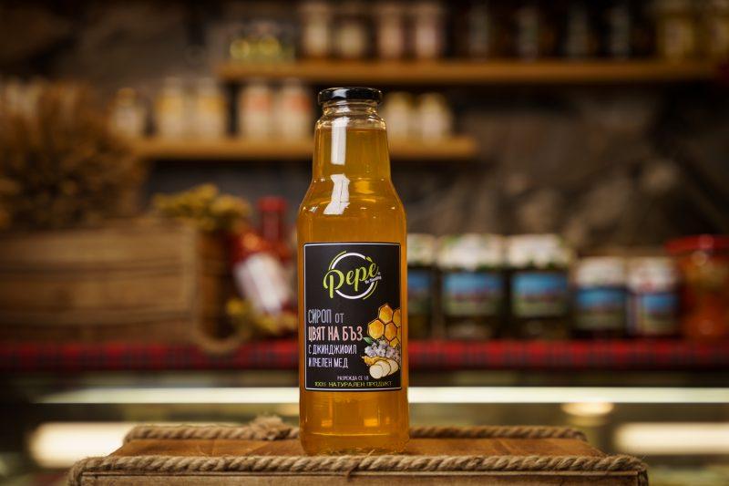 """Сироп """"Пепе"""" от цвят на бъз с джинджифил и пчелен мед 750мл. 1"""