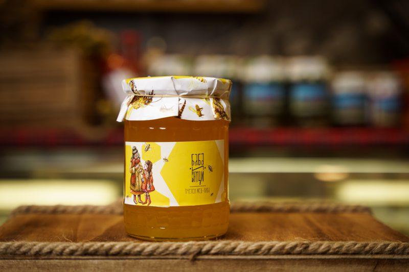 """Пчелен мед - липа """"Баба и внуци"""" 750гр. 1"""